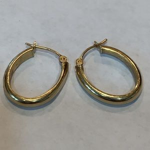 14k yellow gold hoop earrings flaw